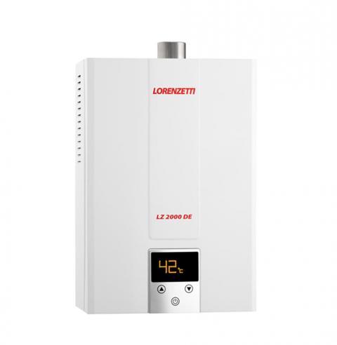 Aquecedor de Água à Gás LORENZETTI LZ 2000 DE 20 Litros/min