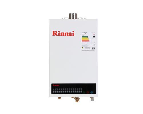 Aquecedor de Água à Gás RINNAI REU 1002 FEH com vazão 12 Litros/min - Tipo de gás GLP - BRANCO