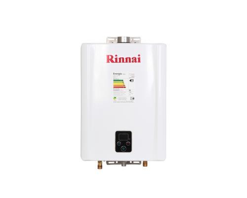 Aquecedor de Água à Gás RINNAI REU E 17 FEH TOP com vazão 17 Litros/min - Tipo de gás GLP - BRANCO